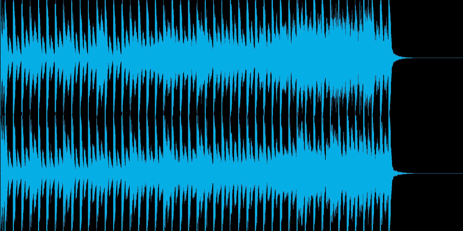 気軽にくつろいだ感じの曲の再生済みの波形