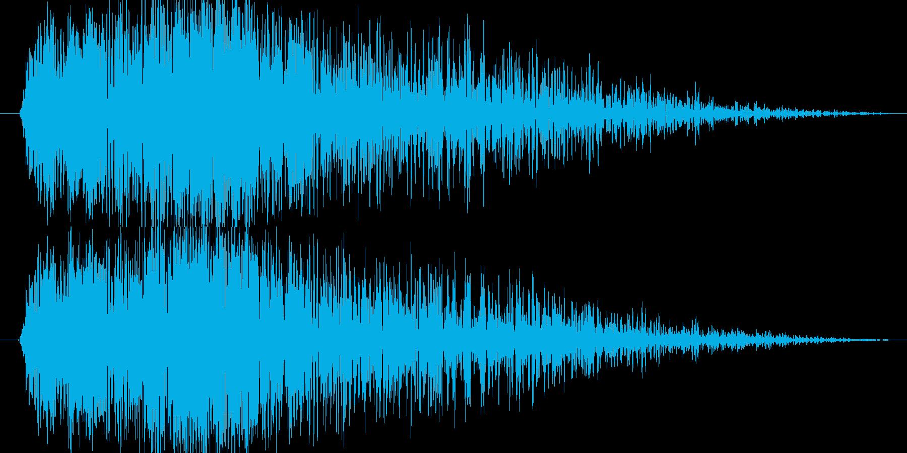 ズゥワン(巨大な古い扉)の再生済みの波形