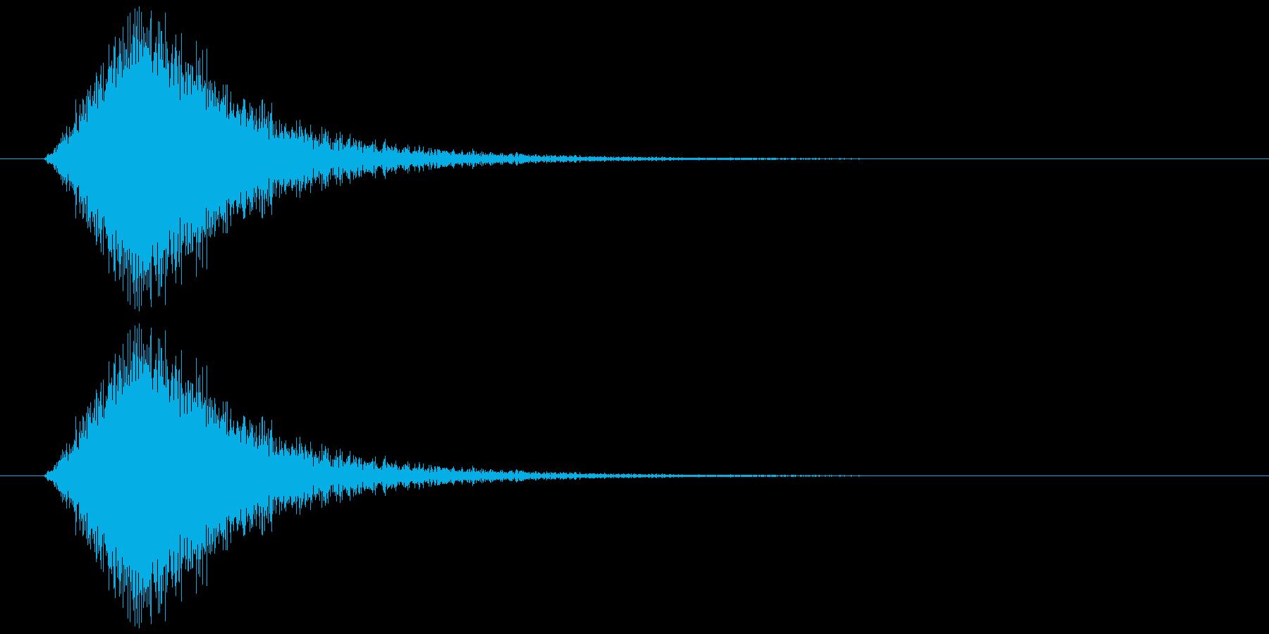 【SE】風切り音04(シュー 中くらい)の再生済みの波形