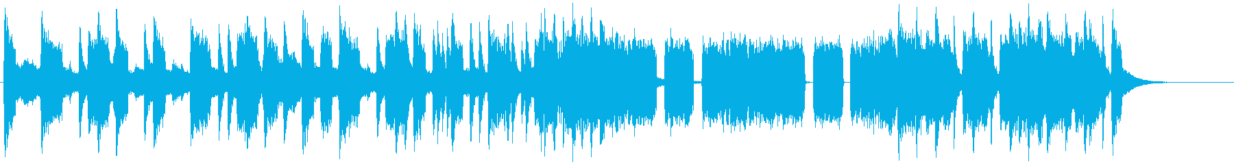 バッドさが全開のヘヴィメタル系ジングルの再生済みの波形