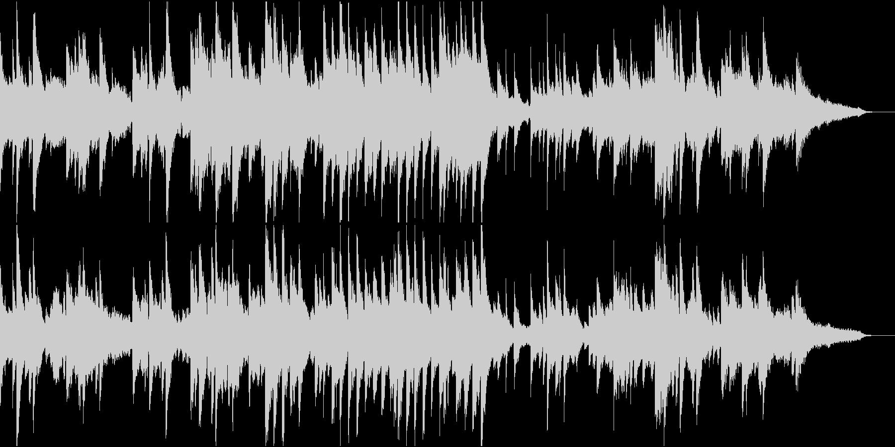 ピアノとフルートの昼休みっぽい音楽の未再生の波形
