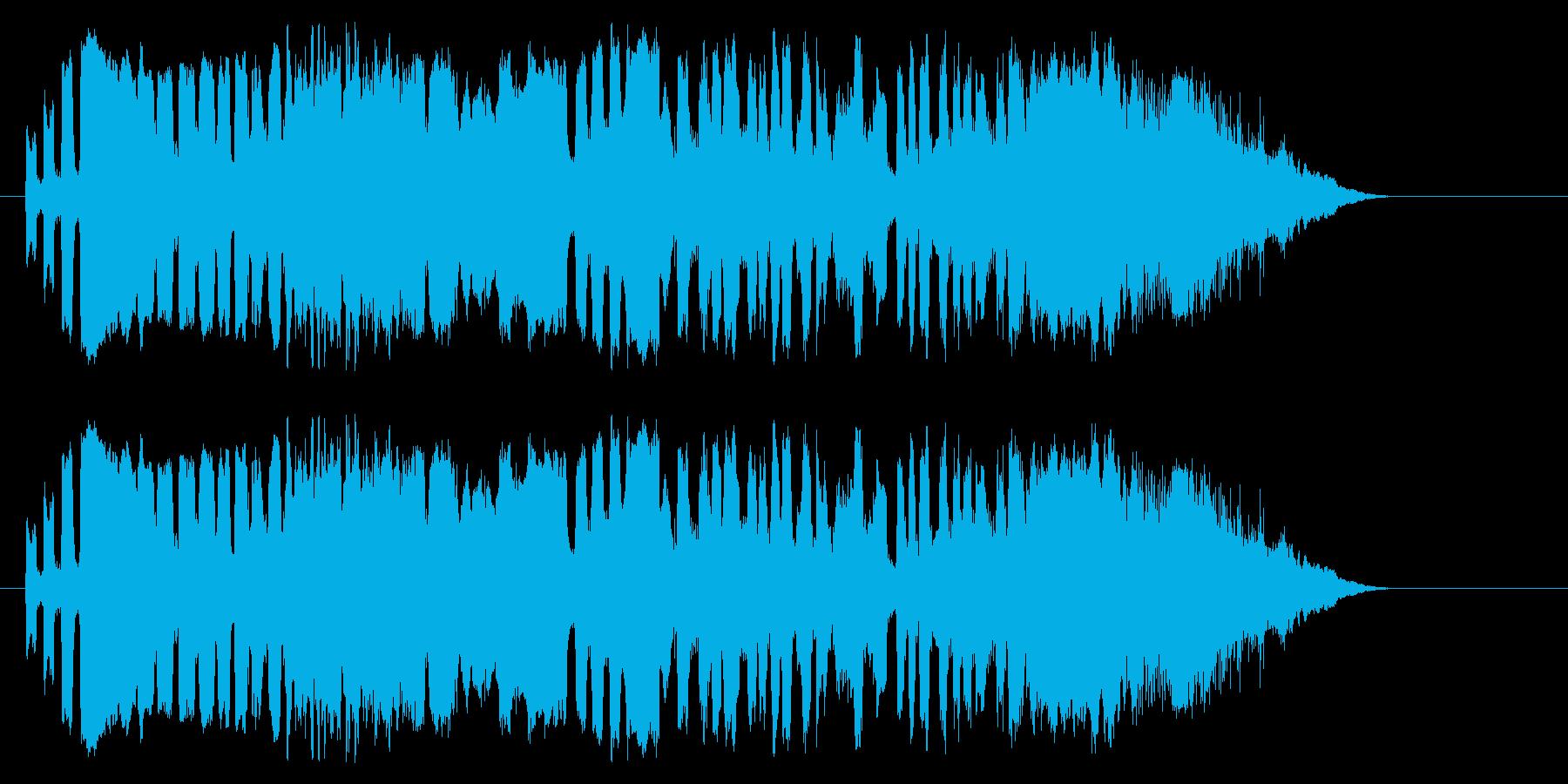 サッカーファンの再生済みの波形