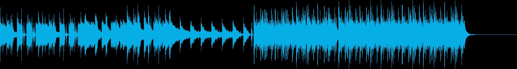 ギターの旋律が印象的な曲の再生済みの波形