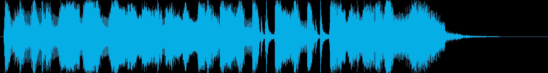 ビッグバンドジャズ15秒CMの再生済みの波形
