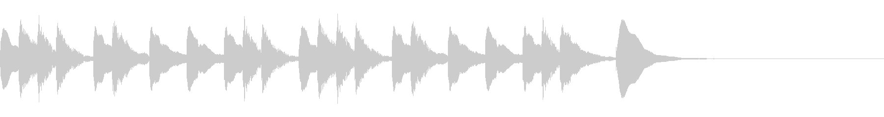 マリンバジングル3 ほのぼのの未再生の波形