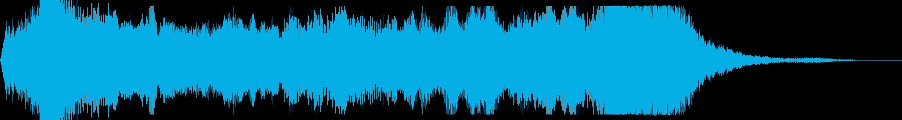 短めなオーケストラファンファーレの再生済みの波形