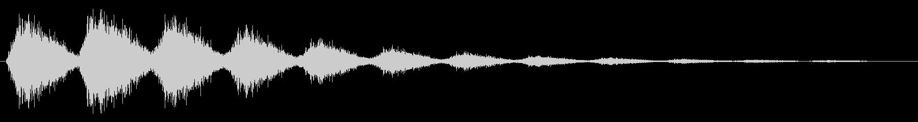 ピシャシャシャ(閃光が走った効果音)の未再生の波形