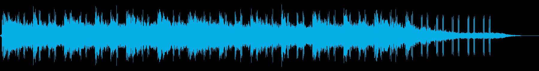 温かみのあるイメージのBGMの再生済みの波形
