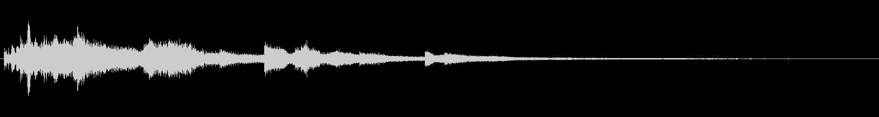チャイムバーストラムを振りかけるの未再生の波形