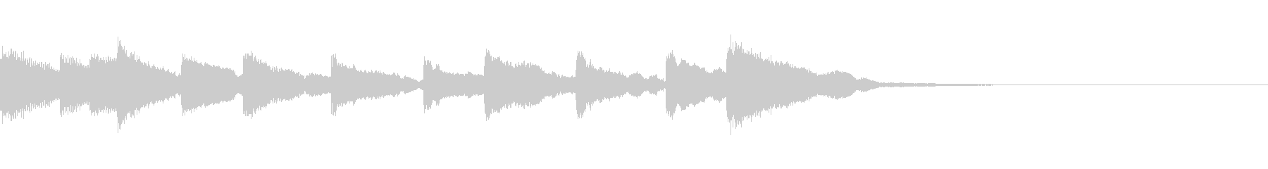 切ない木琴ジングルの未再生の波形