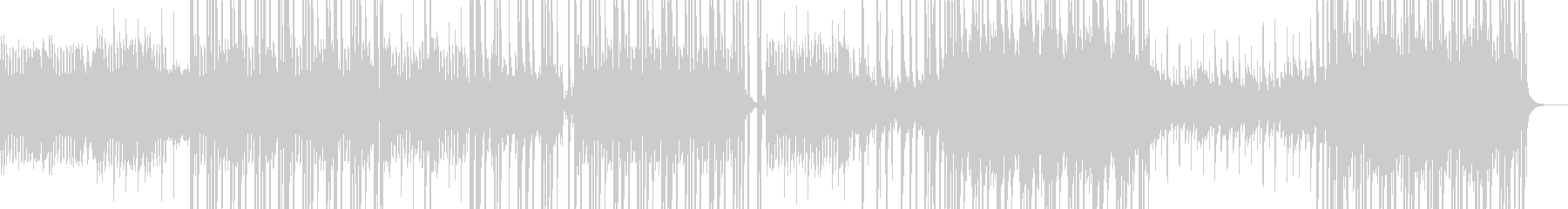 高音でドラムキックのシンセサイザーの曲の未再生の波形