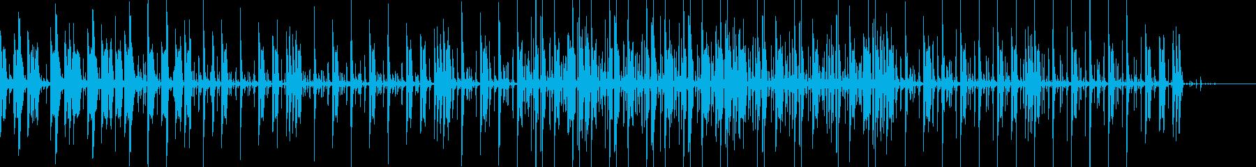 アジア風リズムにユニークな音入りインストの再生済みの波形