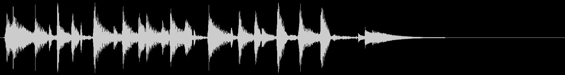 ウクレレハワイアンフレーズ2の未再生の波形