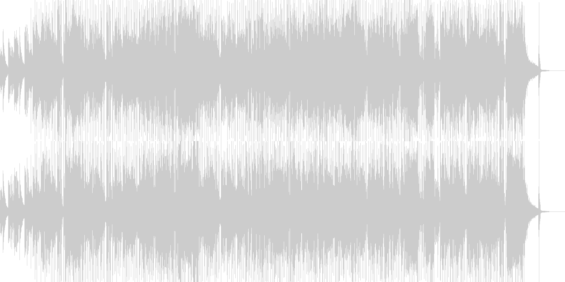 オシャレなギターソロのインストの未再生の波形