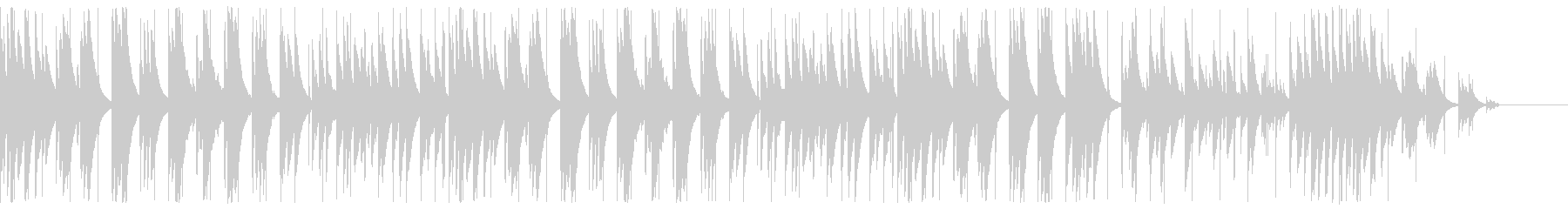 キラキラで神秘的なグロッケンのBGMの未再生の波形