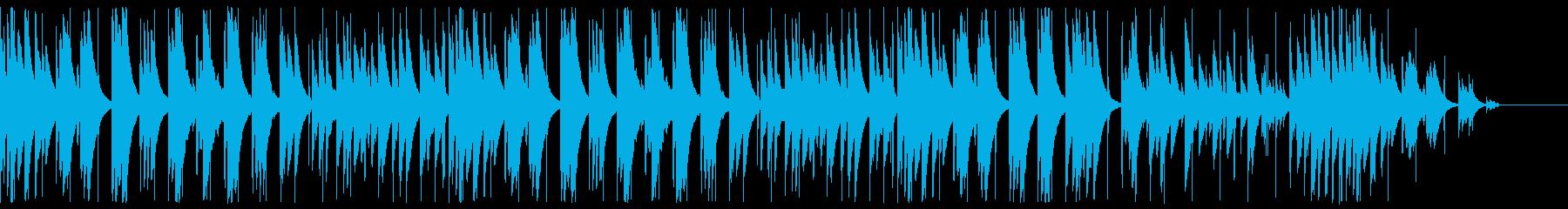 キラキラで神秘的なグロッケンのBGMの再生済みの波形