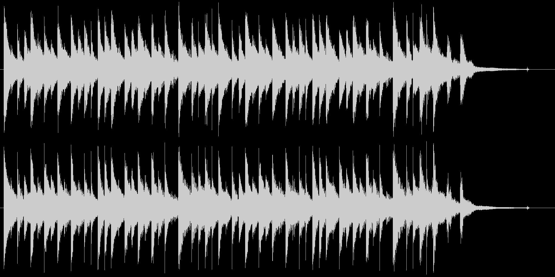 静か、奇妙、不思議な夜のロゴ・ジングルの未再生の波形
