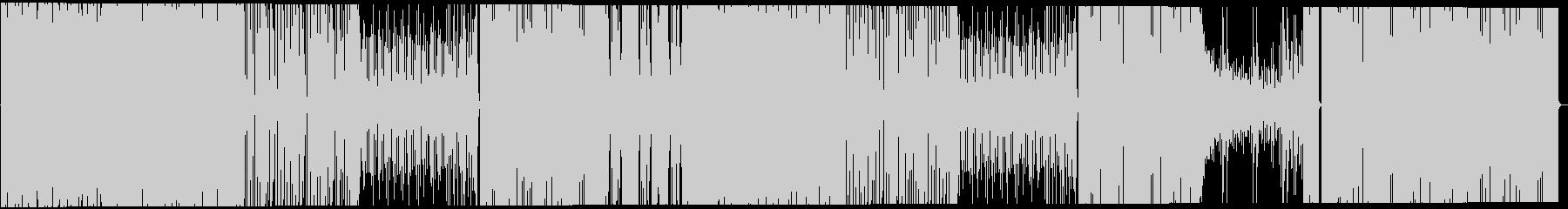 ファンキーで軽快なロックの未再生の波形