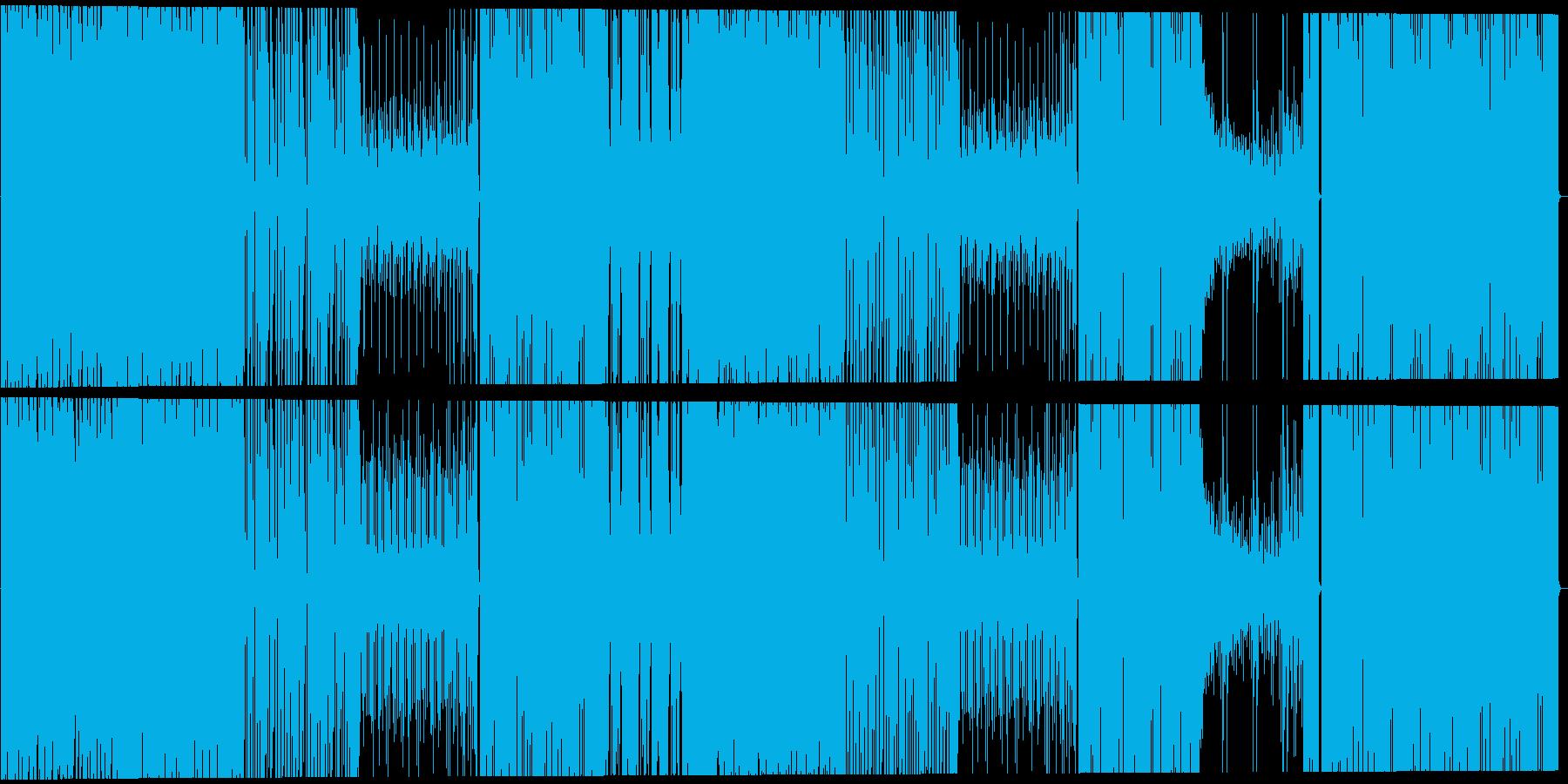 ファンキーで軽快なロックの再生済みの波形