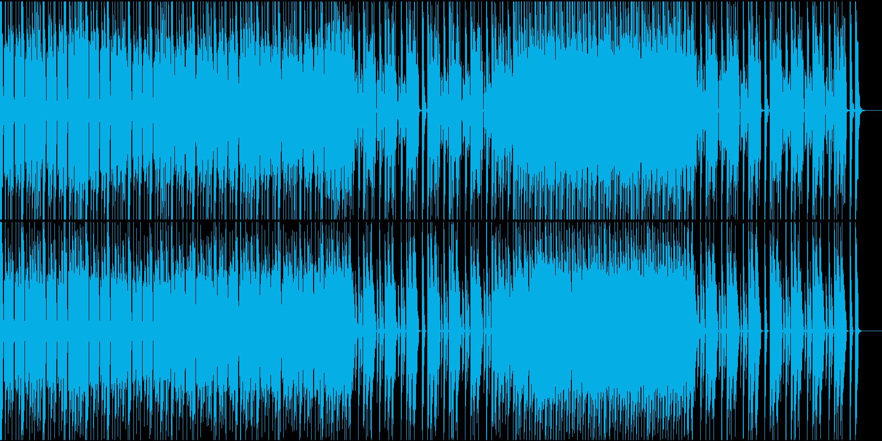 怪しい雰囲気のあるテクノエレクトロの再生済みの波形