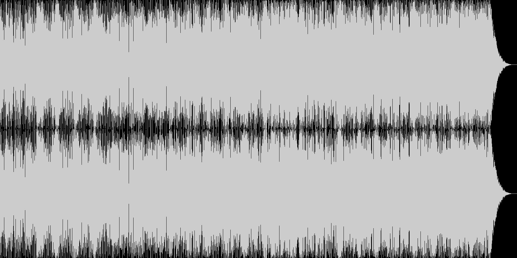 ミドルテンポのAOR的なファンクの未再生の波形