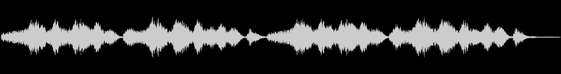 静かな瞑想音楽の未再生の波形