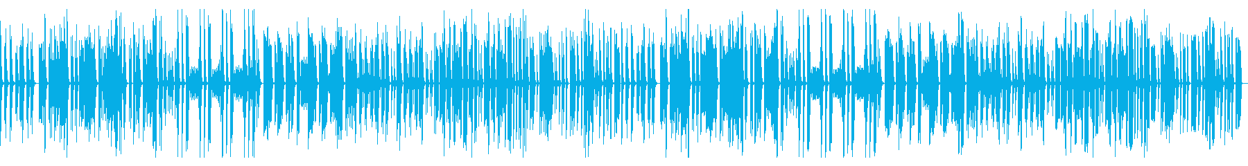 Slow and simple comical song's reproduced waveform