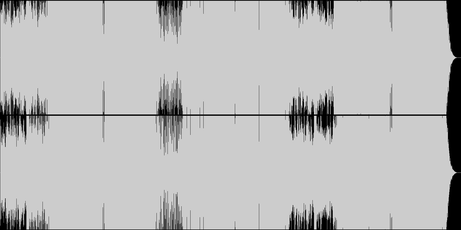 クラシカルで起伏の激しいEDMの未再生の波形