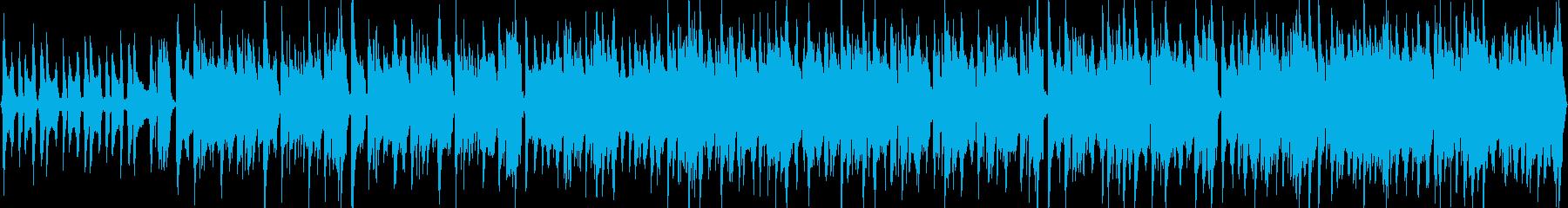 猫が悪だくみをしているような曲の再生済みの波形