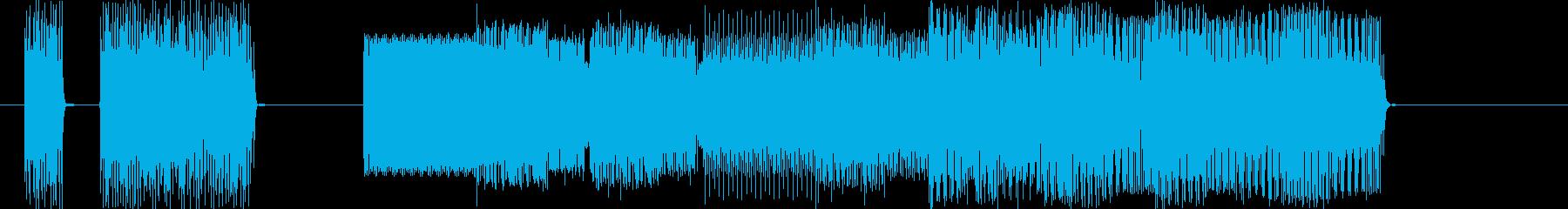 ファミコン系ピコピコ曲ゲームオーバーにの再生済みの波形