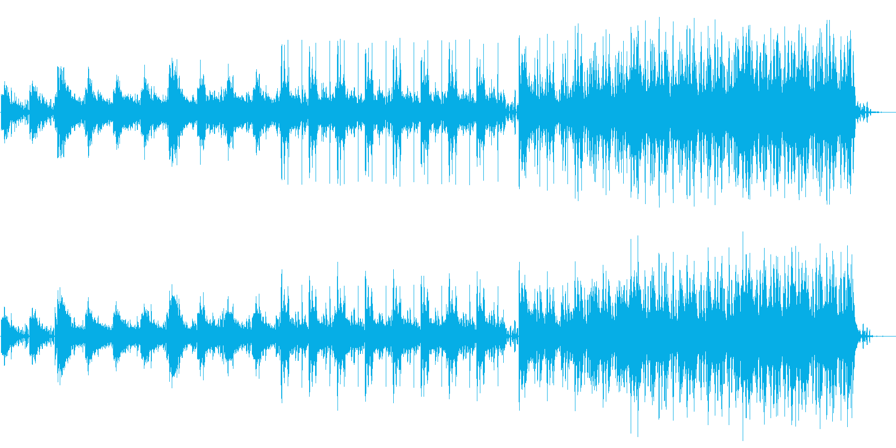 緊迫感のあるサスペンス曲の再生済みの波形