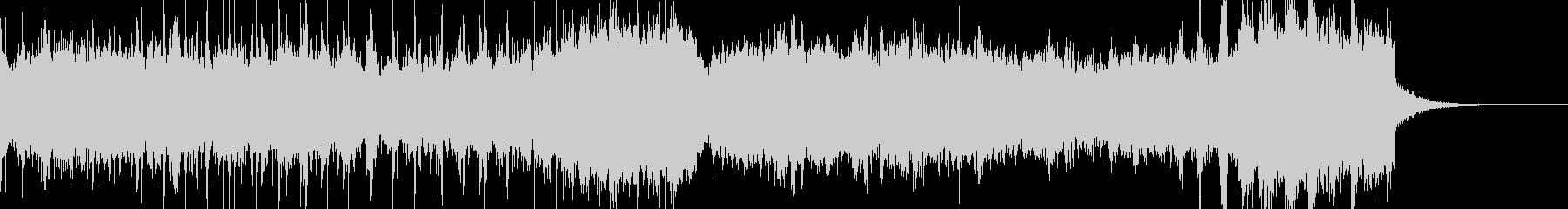 宇宙空間を表現したダークシンセ音の未再生の波形