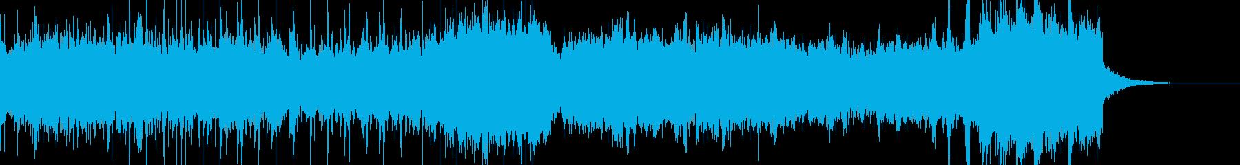 宇宙空間を表現したダークシンセ音の再生済みの波形