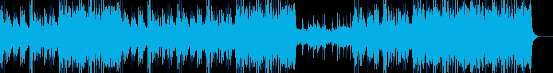 ハープのフレーズが特徴的な曲の再生済みの波形
