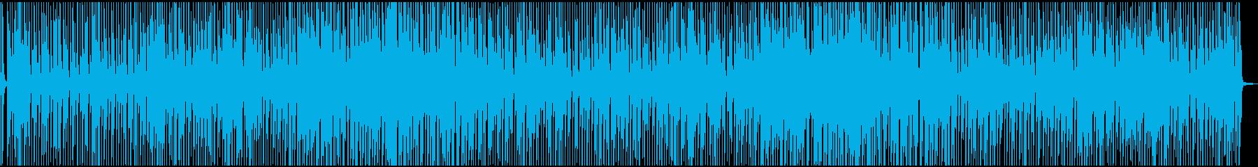 リズミカルで明るい爽やかな曲の再生済みの波形
