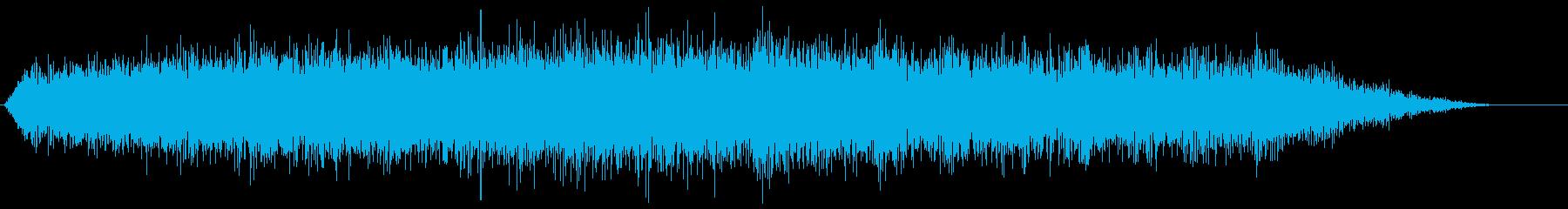 シマー付きベッド予兆ドローンの再生済みの波形