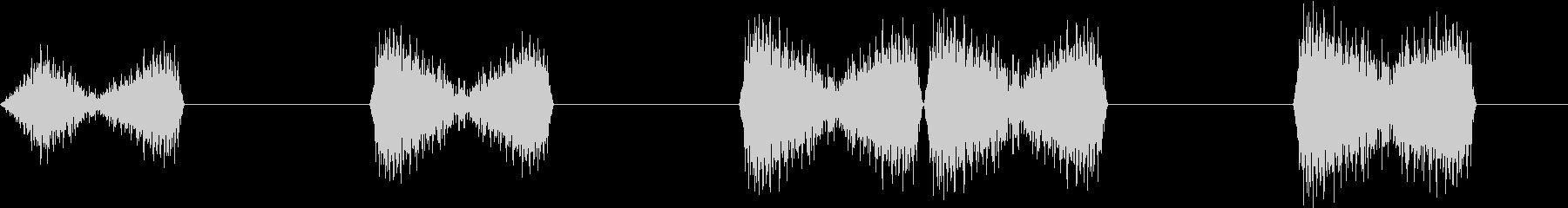 DJプレイ スクラッチ・ノイズ 7 煽りの未再生の波形