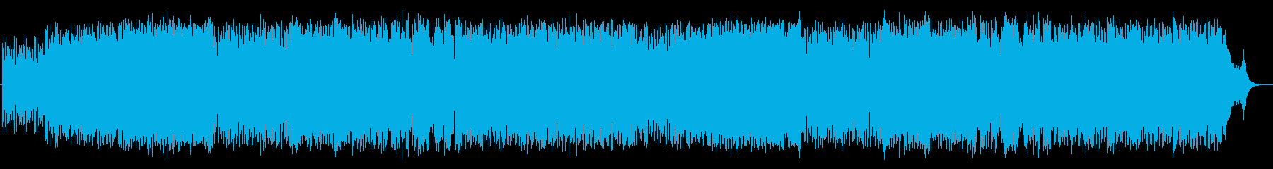 スピードと宇宙感あるシンセサイザーテクノの再生済みの波形