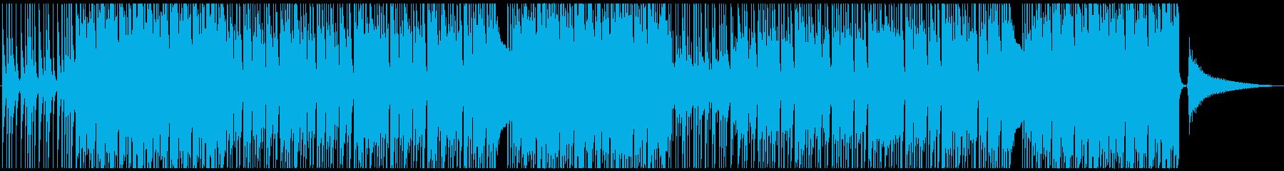 リズムが心地よいピースフルBGMの再生済みの波形