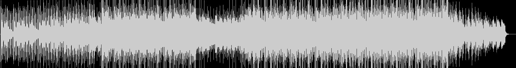 ピアノサウンドと共に映像に疾走感をの未再生の波形
