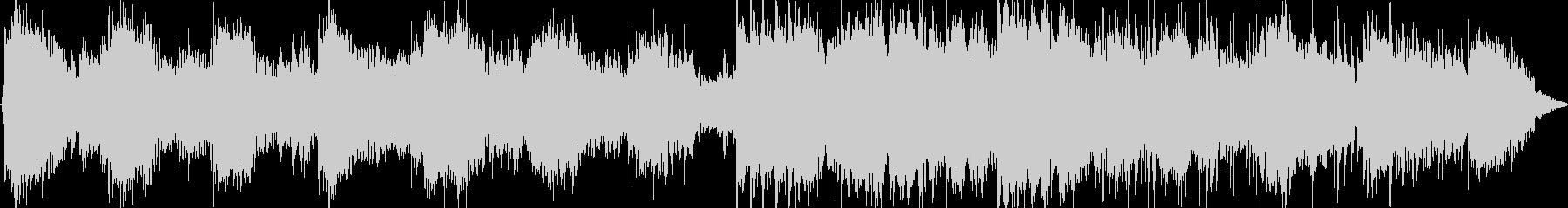 静かな笛のヒーリング音楽の未再生の波形