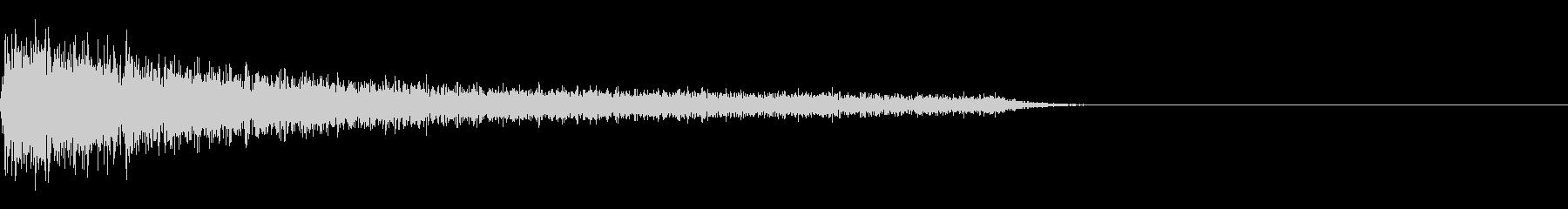 FX・SEピアノ/ショック/衝撃/1-Bの未再生の波形