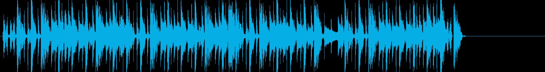ブレイクビーツ+カッティングギターのんの再生済みの波形