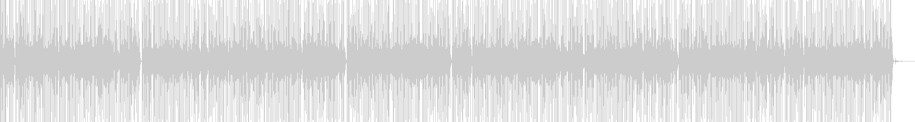 テンションコードのミニマルミュージックの未再生の波形