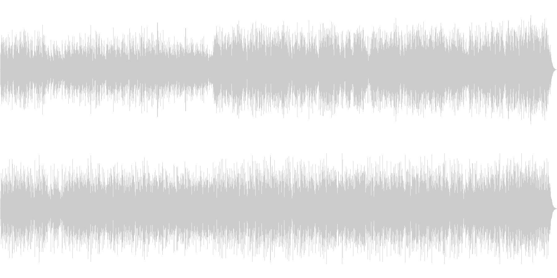 アコギとピアノの優しくシンプルなBGMの未再生の波形