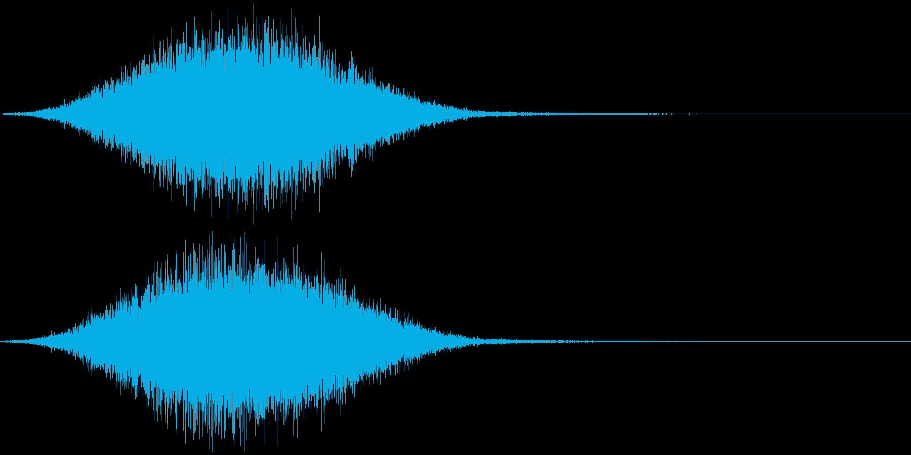 不協和音【ホラー】(ヒュゥィン)の再生済みの波形