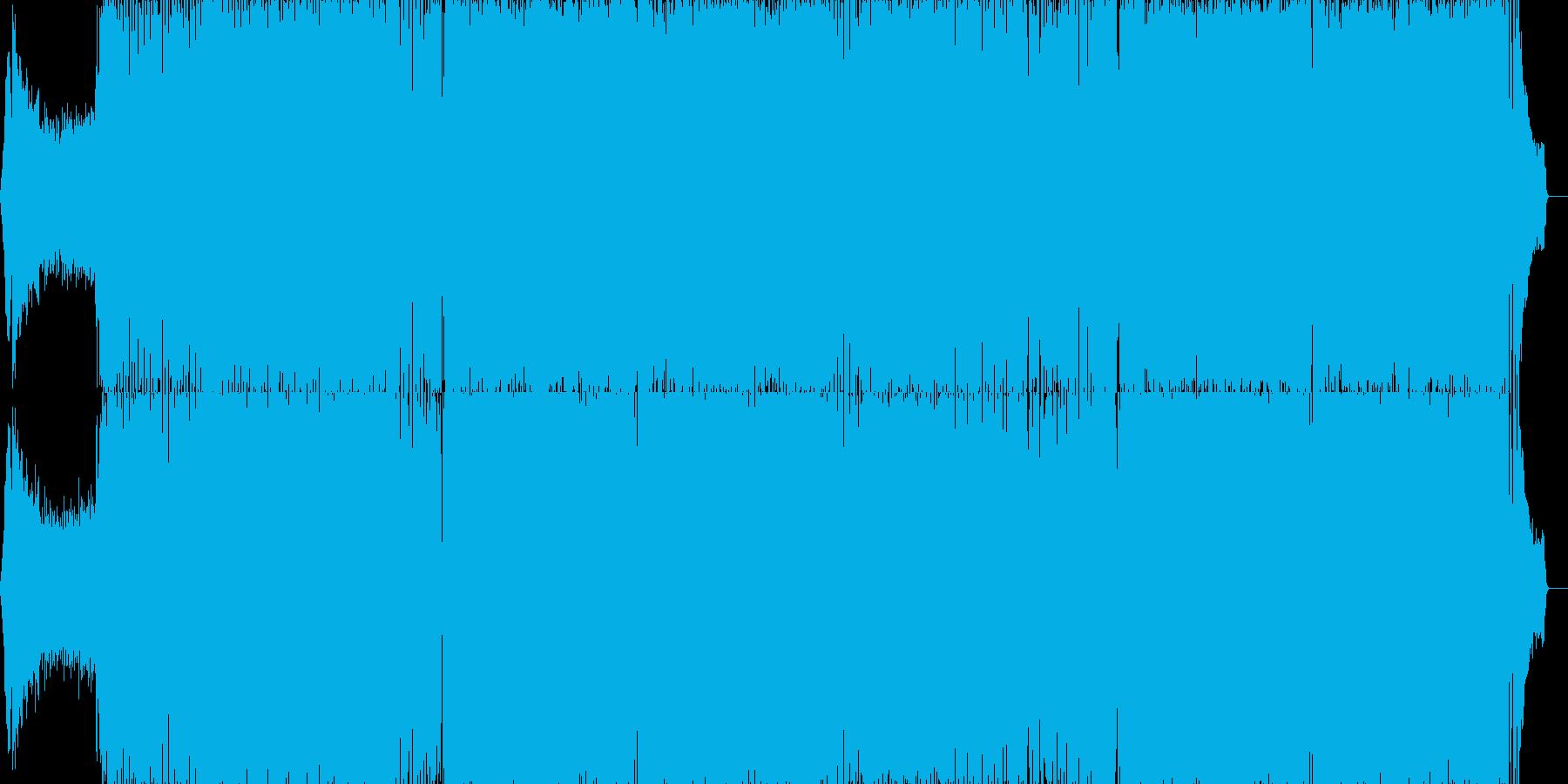 スピード感溢れるトランスの再生済みの波形