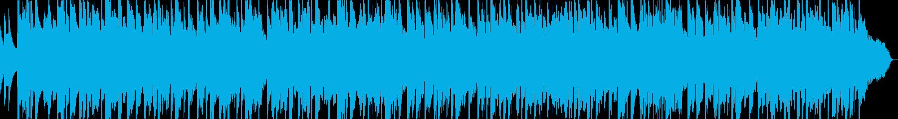 ギターとベースが絡むドラマティックBGMの再生済みの波形