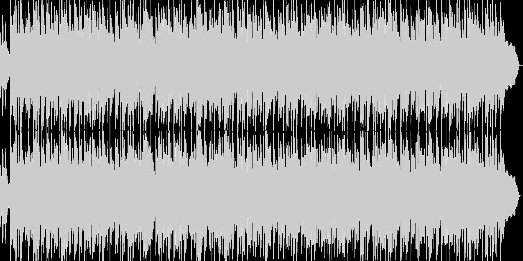 ギターとベースが絡むドラマティックBGMの未再生の波形