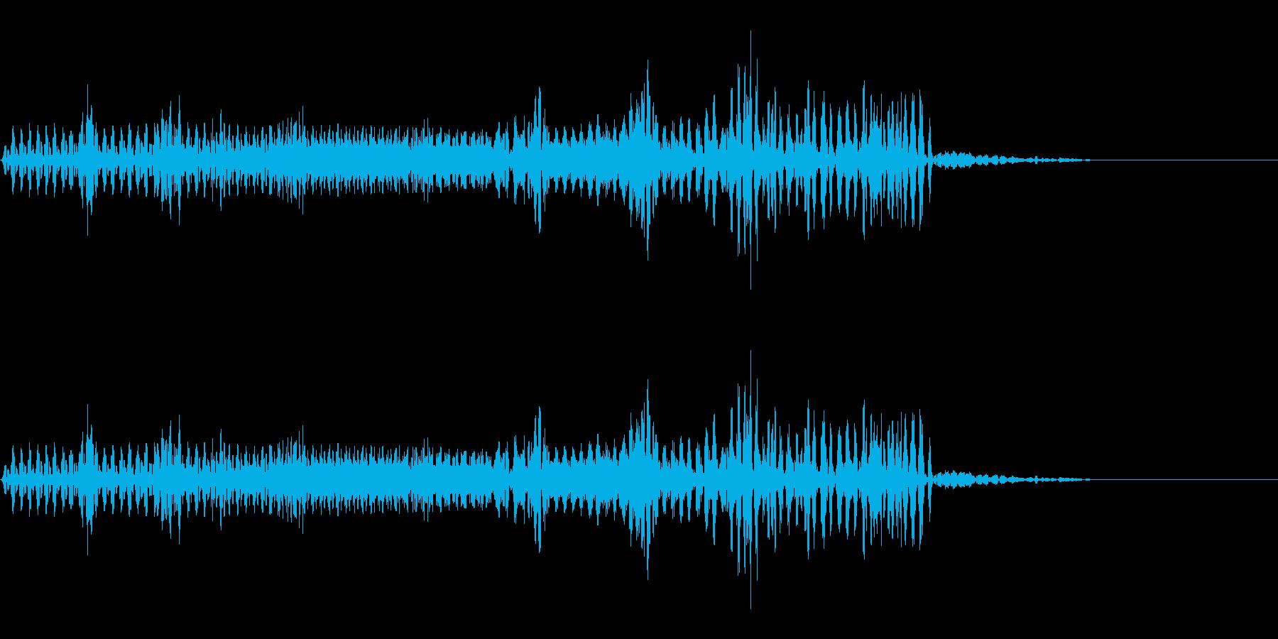 【SE 効果音】不気味な音15の再生済みの波形